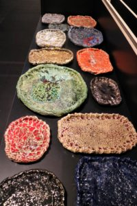 These handmade ceramic trays exhibit use of color and texture - so simple yet so beautiful.