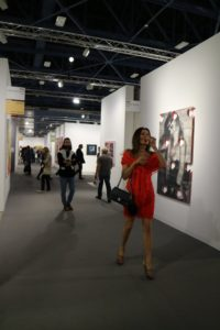 The event includes artists from 29 different countries. Visitors walked freely through the many galleries.