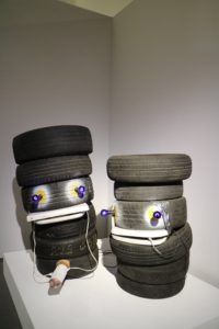 This was a very eye-catching installation using tires.