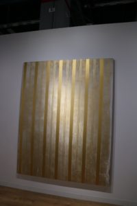 This is another piece showing a simple design using straight lines and metallic color.