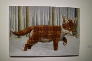 Sean Landers had several pieces of art at the show - this is one of a fox.