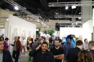 There were dealers from everywhere displaying all sorts of art - paintings, sculptures, installations video, fiber-optics, etc.