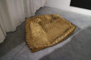 This is a large gold bag showing lots texture and metallic color.