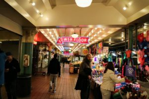 Pike Place Market was established in 1907 and contains dozens of farm stalls, more than 200 unique owner-operated shops and more than 80 restaurants.