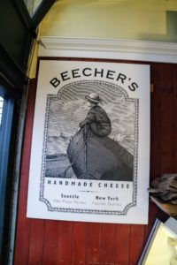 We stopped by Beecher's Handmade Cheese shop at Pike Place Market. Beecher's also has stores in New York City and in Wisconsin.