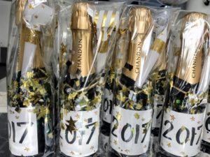 Place the bottles in cellophane bags and add lots of confetti - these make wonderful party favors.