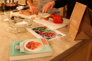 "The recipe we're making is chicken stir-fry wraps from our ""Everyday Food: Great Food Fast"" cookbook. With Martha & Marley Spoon, just order up to three meals the week before and all the pre-portioned ingredients arrive at your home on your day of choice. It's a superior money saving, time saving meal-kit delivery system. goo.gl/W99Zim"