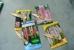 Here are a few of the markers with their corresponding seeds.