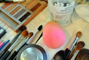 Do you know what this is? It is called the Beauty Blender sponge - it's one of Daisy's makeup kit staples. Edgeless, and reusable - it's a big favorite. http://www.beautyblender.com/
