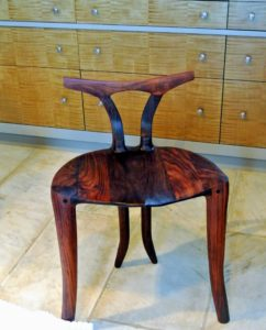 I like to use this beautiful chair made by my brother, Eric - a dentist by profession, but also an extremely talented and passionate artisan. He has been on my television show with his wonderful wood creations - I will share more of his work in a future blog.