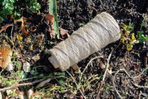 We use a natural jute twine for most of our garden tying projects.