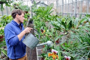 Ryan checked all the greenhouses, and made sure everything was well fed and watered.