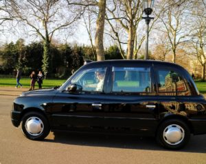 Here is the ubiquitous taxi of London. In the United Kingdom, these are called hackneys or hackney carriages.