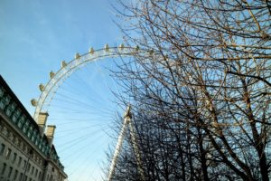 The London Eye is Europe's tallest ferris wheel, with one of the highest public viewing points in London. The structure is 443-feet tall and the wheel has a diameter of 394-feet. https://www.londoneye.com