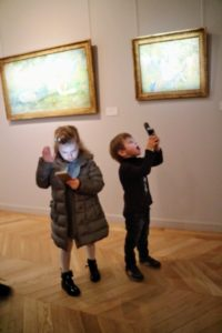 The children wanted to photograph everything in the museum- we gave them our iPhones to do so- actually they got some good photos!