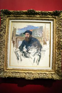 The exhibit currently on at this gem of a museum is one comparing the art of Monet, Munch, and Hodler. This is a Claude Monet self portrait.