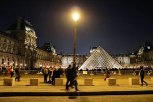 Here is the I.M. Pei pyramid in the Louvre courtyard.