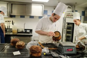 Aspiring chefs learn the art of exact proportions and the visual arts of pastry-making.