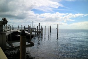 Here is a view looking past the dock to the calm waters off Florida.