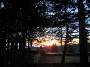 This is a sunset view from Overlook Garden. The garden is on the property of an old house I bought over the summer, right near Skylands.