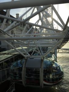 Here is another view of the pod on the London Eye. Each of the capsules represents a London borough and holds up to 25-people.