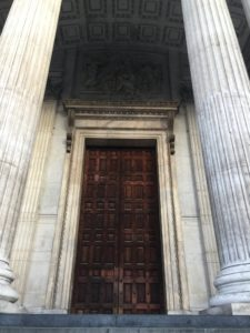 This is the entrance to St Paul's Cathedral.