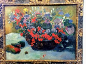 This is called Bouquet de Fleurs 1897, an oil on canvas painting, by Paul Gauguin, 1848-1903. Our tour at the Musee Marmottan Monet- it was wonderful.