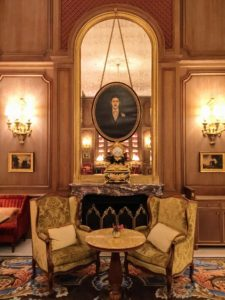 "This is the Salon Proust located inside the Ritz Paris. It was named after Marcel Proust, a French novelist, critic, and essayist best known for his monumental novel, ""In Search of Lost Time"" published between 1913 and 1927. He is considered by English critics and writers to be among the most influential authors of the 20th century."