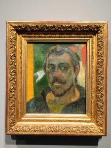 There were rooms of artists' self-portraits like this one of Paul Gauguin.