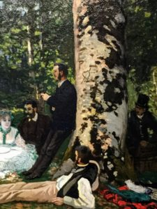 "This is Claude Monet's Le Dejeuner sur l'herbe or ""Luncheon on the Grass"", 1866"