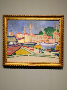 "This is one of an installation of works from 1905, by André Derain called ""Le Port""."
