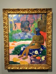 "This is by artist, Paul Gauguin - ""Her name was Vairaumati"", 1892."