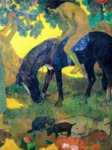 """Paul Gauguin's Ruperupe La Cueillette des fruits or """"Gathering Fruit"""", 1899."""