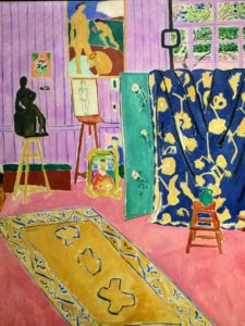 "Here's another by Henri Matisse, called ""L'Atelier Rose"", 1911."
