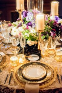 Fleurs NYC decorated this beautiful table - so elegant and sophisticated. (Photo by Chudleigh Weddings) http://www.fleursnyc.com