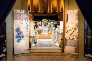 This is the entrance to the grand Gotham Hall ballroom, where our wedding vendors gathered to share their tips and ideas. The 10-foot tall brass double doors lead into the 10-thousand square foot domed space. (Photo by Chudleigh Weddings) @chudleigh_weddings http://www.gothamhallevents.com
