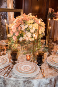 A lovely table setting by Stonekelly Events. (Photo by Chudleigh Weddings) http://www.stonekelly.com