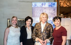 Here I am with Patti Follo, our Martha Stewart Weddings editor-at-large, Darcy Miller-Nussbaum, and our editor-in-chief of Martha Stewart Weddings, Amy Conway. (Photo by Chudleigh Weddings)