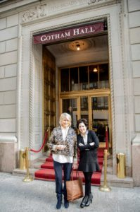 Darcy and I took one last photo in front of Gotham Hall - what a nice event.  (Photo by Chudleigh Weddings)