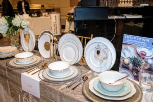 Here is a lovely display of  plates from Lenox Registry.  (Photo by Chudleigh Weddings) https://www.lenox.com/