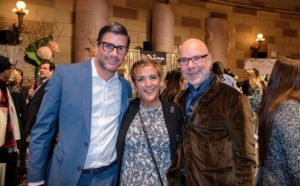 Here are Weddings special projects editor, Anthony Luscia, Linda Mitchell of Luxury Destination Travel, and Ron Ben-Israel.  (Photo by Chudleigh Weddings)