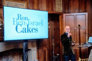 A separate room was used for panel discussions, events presentations and audience Q&A sessions. Here's Ron Ben Israel talking about his wonderful cakes.  (Photo by Chudleigh Weddings)