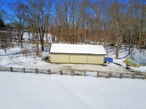 Here is the Stable Barn from a lower vantage point.