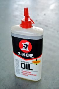 Oil helps to lubricate the parts of the sheers and makes it perform more smoothly.