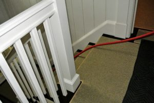 These hoses run through the house from the outdoor air compressor.