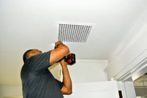 Once everything is cleaned, all the vent covers are carefully returned.