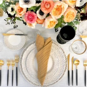 This table was set by Borrowed Blu Rentals: Traditional Tables with a Twist. http://www.borrowedblu.com