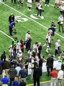 Owner of the New England Patriots, Robert Kraft, wished every single player good luck.
