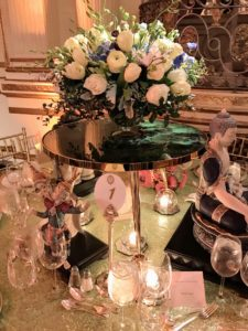 This centerpiece was created and presented by Byron C. James.