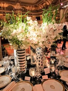 This one is by John Oetgen of Oetgen Design Inc. All the centerpieces were filled with such vibrant orchids.